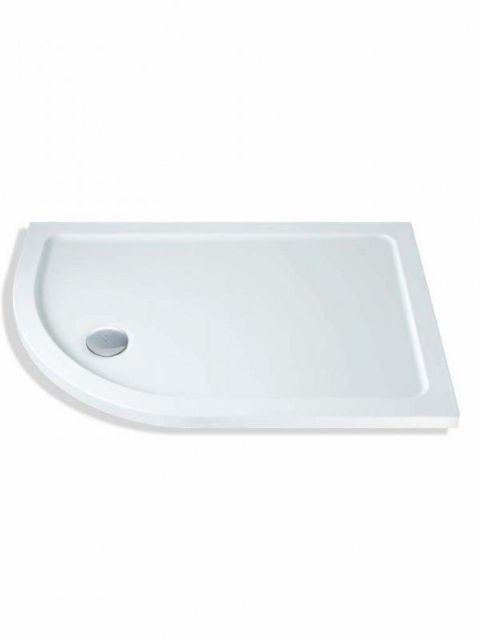 MX Durastone 1000mm x 800mm Low Profile Offset Quadrant Shower Tray Left Hand XFI